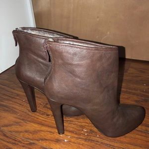 Brown Leather BCBG Booties
